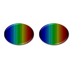 Spectrum Colours Colors Rainbow Cufflinks (oval) by Nexatart