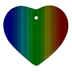 Spectrum Colours Colors Rainbow Heart Ornament (two Sides) by Nexatart