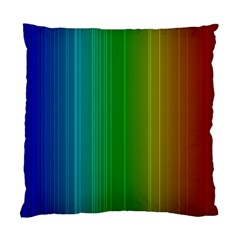Spectrum Colours Colors Rainbow Standard Cushion Case (one Side) by Nexatart