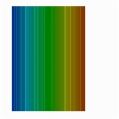 Spectrum Colours Colors Rainbow Large Garden Flag (two Sides) by Nexatart