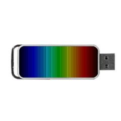 Spectrum Colours Colors Rainbow Portable Usb Flash (one Side) by Nexatart