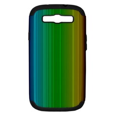 Spectrum Colours Colors Rainbow Samsung Galaxy S Iii Hardshell Case (pc+silicone) by Nexatart