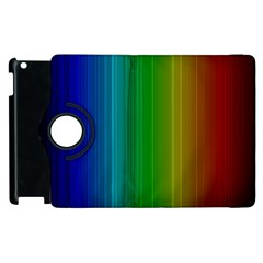 Spectrum Colours Colors Rainbow Apple Ipad 3/4 Flip 360 Case by Nexatart
