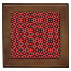 Abstract Background Red Black Framed Tiles