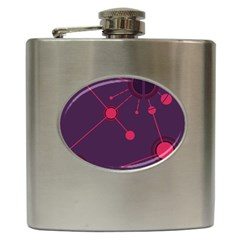Abstract Lines Radiate Planets Web Hip Flask (6 Oz) by Nexatart