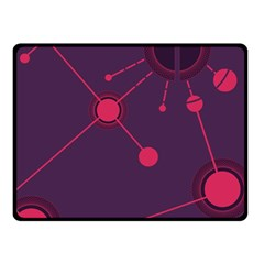 Abstract Lines Radiate Planets Web Fleece Blanket (small)