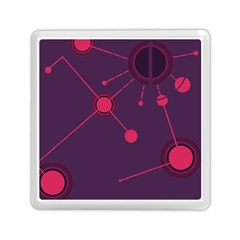 Abstract Lines Radiate Planets Web Memory Card Reader (square)  by Nexatart