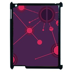 Abstract Lines Radiate Planets Web Apple Ipad 2 Case (black) by Nexatart