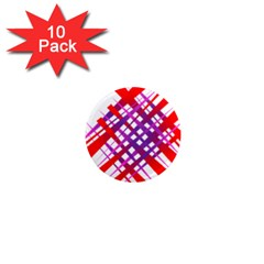 Chaos Bright Gradient Red Blue 1  Mini Magnet (10 Pack)