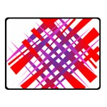 Chaos Bright Gradient Red Blue Fleece Blanket (Small) 50 x40 Blanket Front