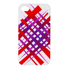 Chaos Bright Gradient Red Blue Apple Iphone 4/4s Premium Hardshell Case by Nexatart