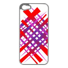 Chaos Bright Gradient Red Blue Apple Iphone 5 Case (silver) by Nexatart