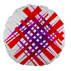 Chaos Bright Gradient Red Blue Large 18  Premium Round Cushions