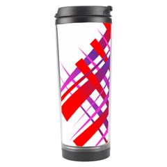 Chaos Bright Gradient Red Blue Travel Tumbler