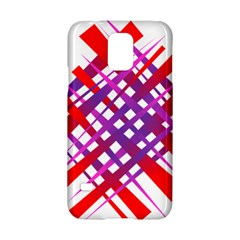 Chaos Bright Gradient Red Blue Samsung Galaxy S5 Hardshell Case  by Nexatart