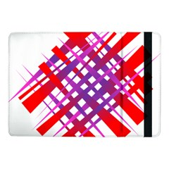 Chaos Bright Gradient Red Blue Samsung Galaxy Tab Pro 10 1  Flip Case by Nexatart