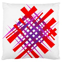 Chaos Bright Gradient Red Blue Large Flano Cushion Case (two Sides)
