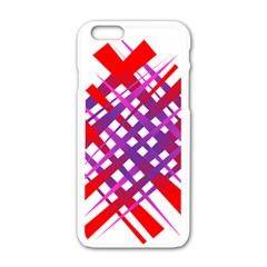 Chaos Bright Gradient Red Blue Apple Iphone 6/6s White Enamel Case