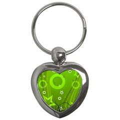 Art About Ball Abstract Colorful Key Chains (heart)  by Nexatart