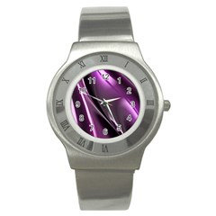 Fractal Mathematics Abstract Stainless Steel Watch by Nexatart