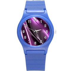 Fractal Mathematics Abstract Round Plastic Sport Watch (s) by Nexatart