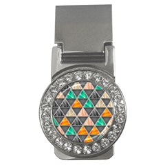 Abstract Geometric Triangle Shape Money Clips (cz)  by Nexatart