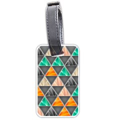 Abstract Geometric Triangle Shape Luggage Tags (one Side)  by Nexatart