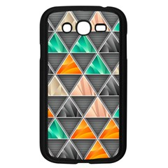 Abstract Geometric Triangle Shape Samsung Galaxy Grand Duos I9082 Case (black) by Nexatart