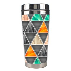 Abstract Geometric Triangle Shape Stainless Steel Travel Tumblers by Nexatart