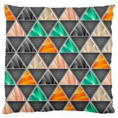 Abstract Geometric Triangle Shape Large Flano Cushion Case (two Sides) by Nexatart