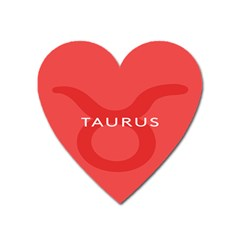 Zodizc Taurus Red Heart Magnet by Mariart