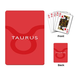 Zodizc Taurus Red Playing Card by Mariart