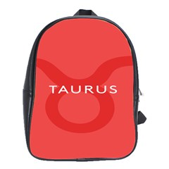 Zodizc Taurus Red School Bags(large)