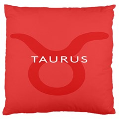 Zodizc Taurus Red Large Cushion Case (one Side) by Mariart