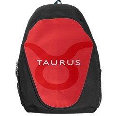 Zodizc Taurus Red Backpack Bag by Mariart