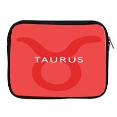 Zodizc Taurus Red Apple Ipad 2/3/4 Zipper Cases by Mariart
