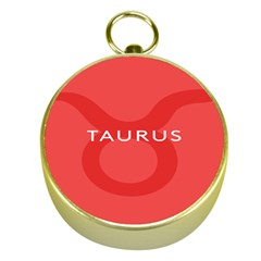 Zodizc Taurus Red Gold Compasses