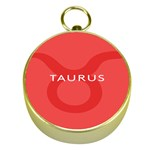Zodizc Taurus Red Gold Compasses Front
