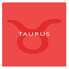 Zodizc Taurus Red Large Satin Scarf (square) by Mariart