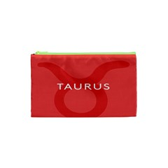 Zodizc Taurus Red Cosmetic Bag (xs) by Mariart
