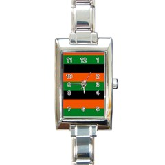 Color Green Orange Black Rectangle Italian Charm Watch by Mariart