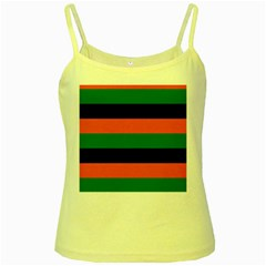 Color Green Orange Black Yellow Spaghetti Tank by Mariart