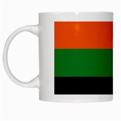 Color Green Orange Black White Mugs by Mariart