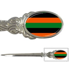 Color Green Orange Black Letter Openers by Mariart