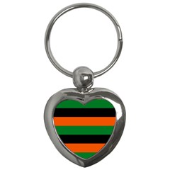 Color Green Orange Black Key Chains (heart)