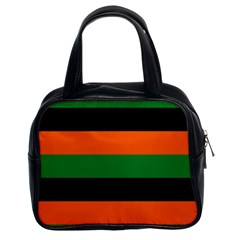 Color Green Orange Black Classic Handbags (2 Sides) by Mariart