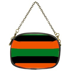 Color Green Orange Black Chain Purses (one Side)  by Mariart