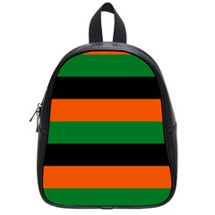 Color Green Orange Black School Bags (small)  by Mariart