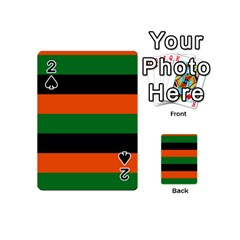 Color Green Orange Black Playing Cards 54 (mini)  by Mariart