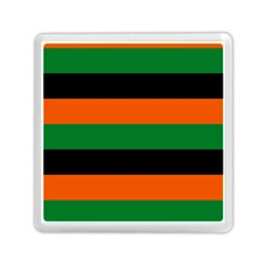 Color Green Orange Black Memory Card Reader (square)  by Mariart